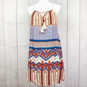 Entro Red White & Blue Paisley Boho Summer Dress